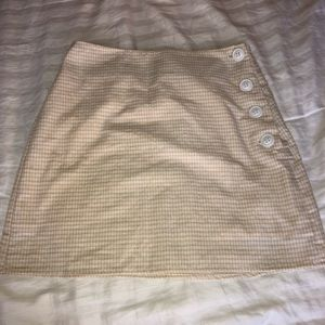 Urban Outfitters Stockholm side-button skirt